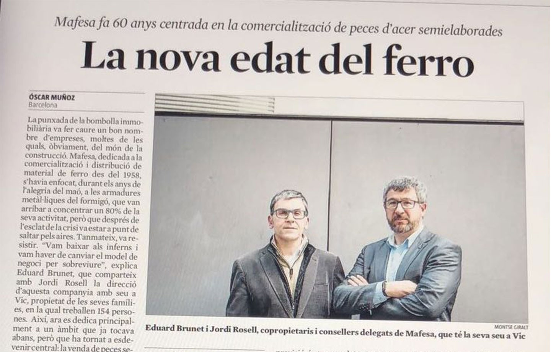 La nova edat de ferro de Mafesa, a La Vanguardia