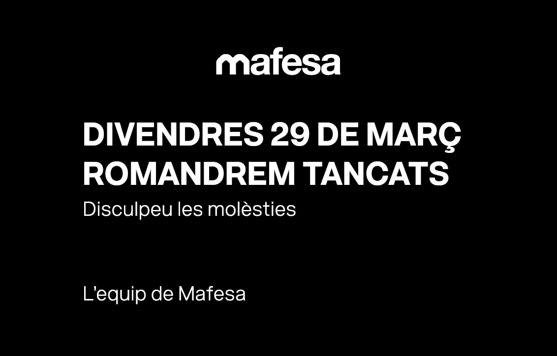 Divendres 29 de març, els nostres centres estaran tancats
